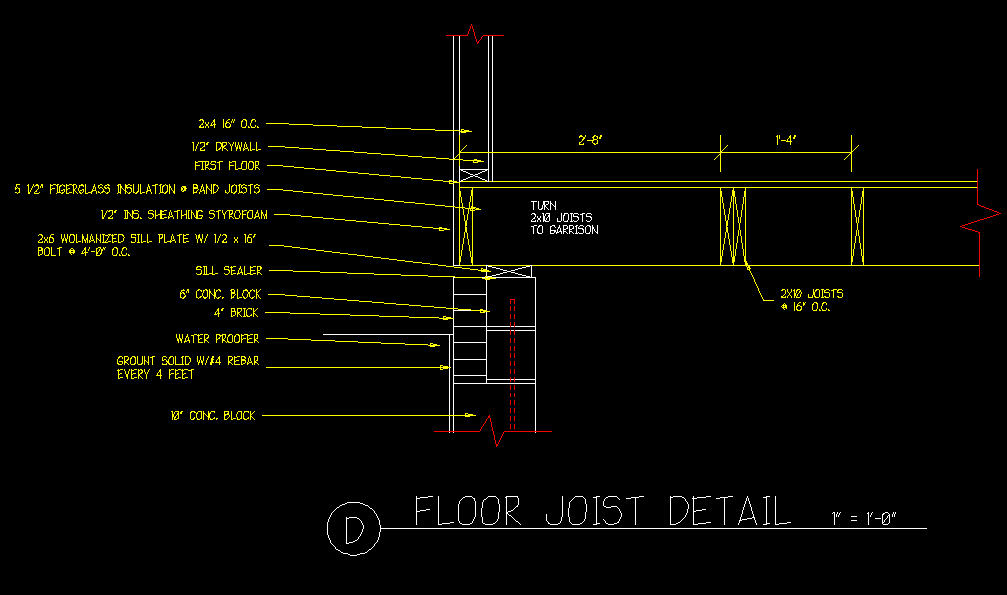 Floor Joist Detail