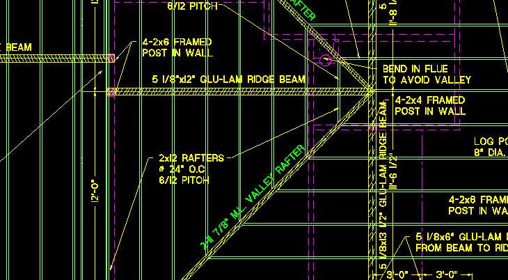 Roof Framing Plan Closeup