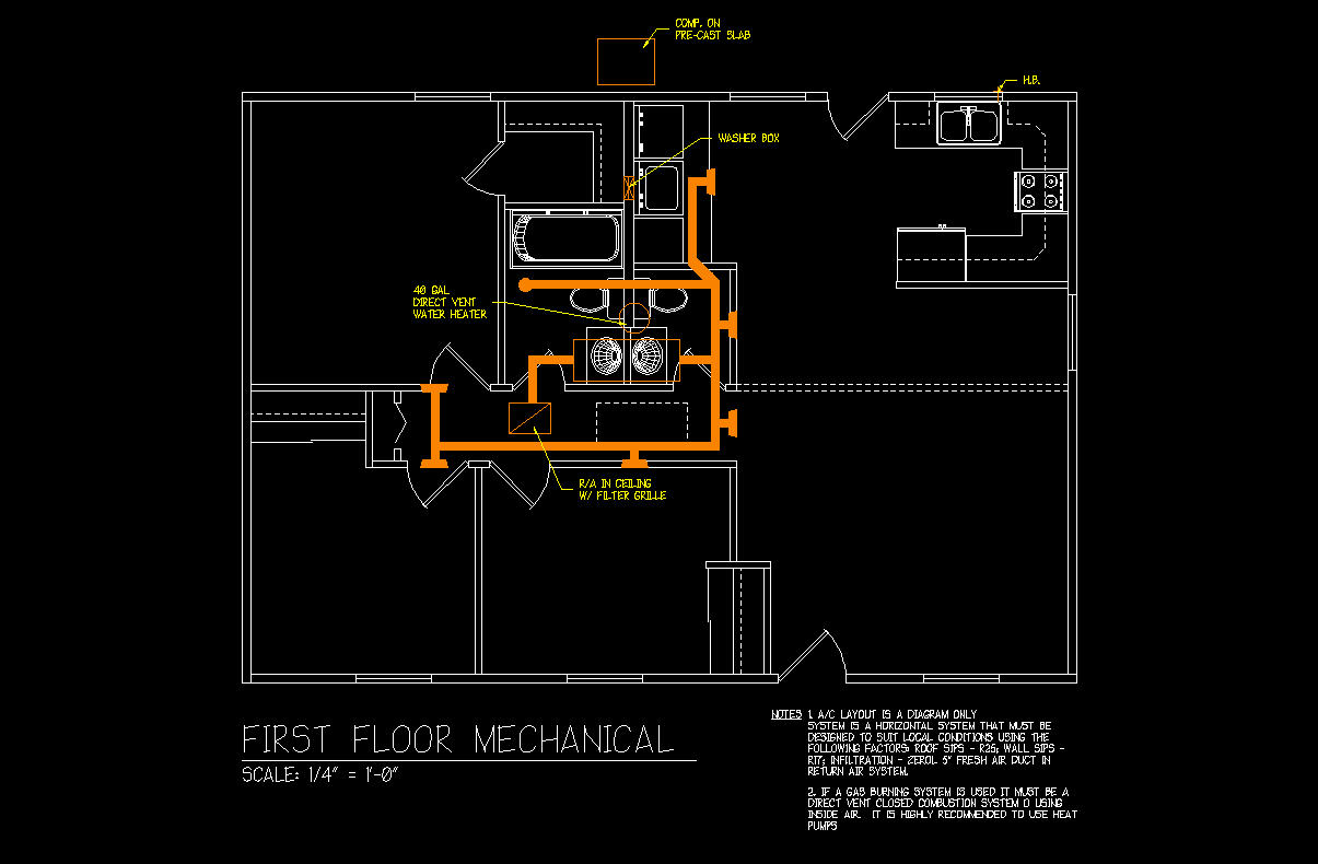 Hvac Plan Duct Drawing Images